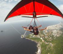 Hang Gliding high over Barra da Tijuca