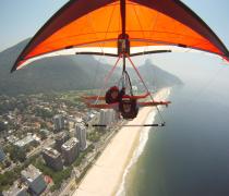 Hang Gliding, high over Rio de Janeiro